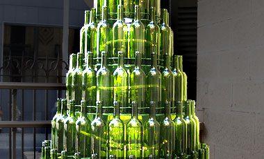 reciclar botellas navidad adorno arbol pino reciclaje Mancomunidad de la Comarca de Pamplona